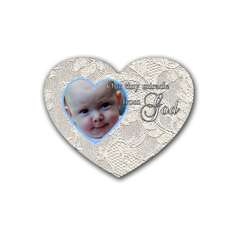 Lace Gift From God By Patricia W   Rubber Heart Coaster (4 Pack)   72h3kwd6bkfb   Www Artscow Com Front