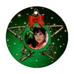 My Star Round Ornament (2 sided) - Round Ornament (Two Sides)
