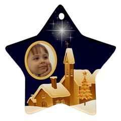 Christmas Night Star Ornament (2 Sided) By Deborah   Star Ornament (two Sides)   1196k4qymnc0   Www Artscow Com Front