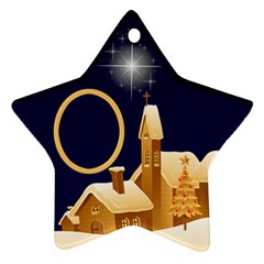 Christmas Night Star Ornament (2 Sided) By Deborah   Star Ornament (two Sides)   1196k4qymnc0   Www Artscow Com Back