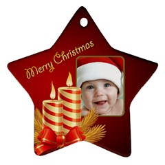 My Little Star Ornament (2 sided) by Deborah Front