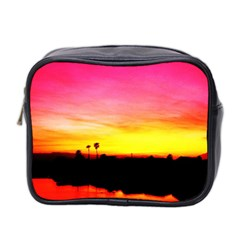 Pink Sunset Twin Sided Cosmetic Case by tammystotesandtreasures