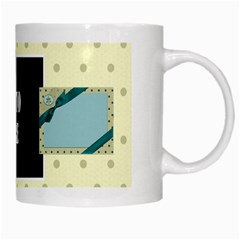 Covered In Teal Mug 1 By Lisa Minor   White Mug   Cduw8h0o047o   Www Artscow Com Right