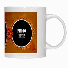 Autumn s Glory Mug 1 By Lisa Minor   White Mug   2lfto2ch5w0q   Www Artscow Com Right