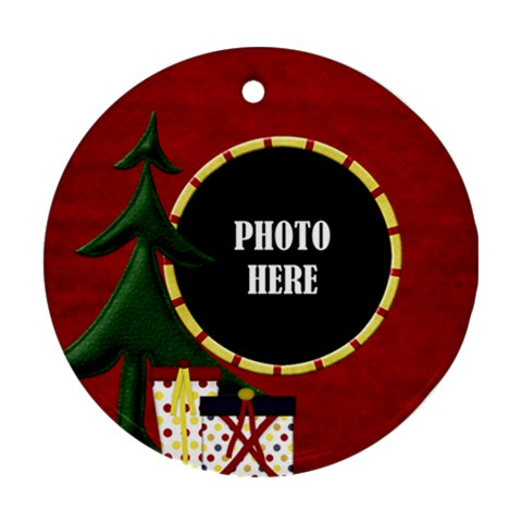 Lone Star Holiday Round Ornament 1 by Lisa Minor Front