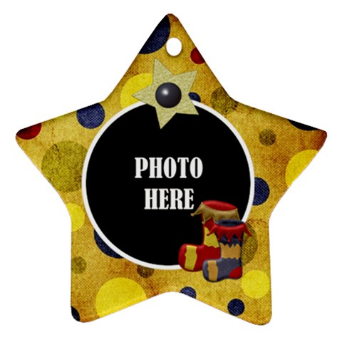 Lone Star Holiday Star Ornament 1 By Lisa Minor   Ornament (star)   E83en93078gl   Www Artscow Com Front