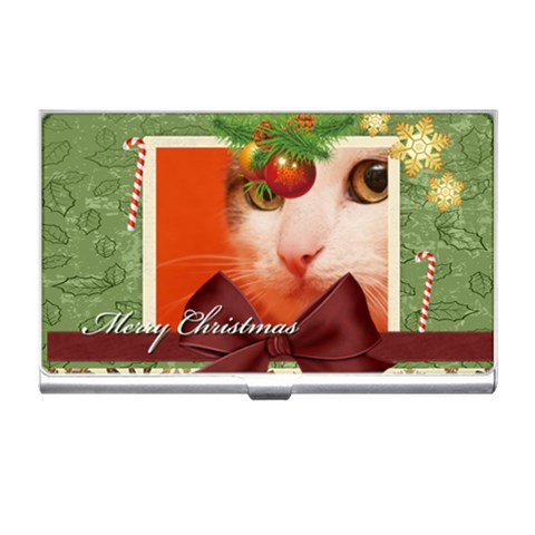 Xmas By Joely   Business Card Holder   6x0a35duj0yk   Www Artscow Com Front