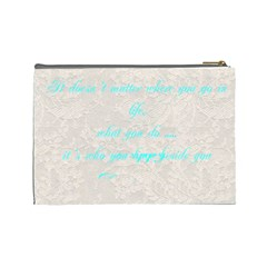 Anniversary Wedding Makeup Bag By Patricia W   Cosmetic Bag (large)   1xnq8h9l0qtj   Www Artscow Com Back