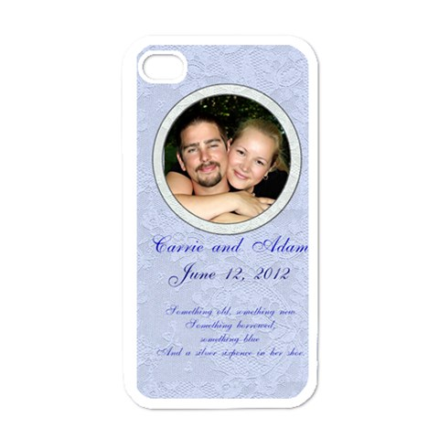 Something New, Something Blue By Patricia W   Apple Iphone 4 Case (white)   0yam6ub72cpk   Www Artscow Com Front
