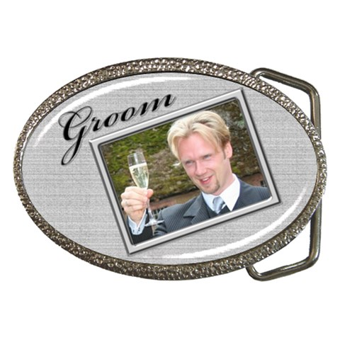 Groom Belt Buckle By Deborah   Belt Buckle   Ftwh0um0ika2   Www Artscow Com Front