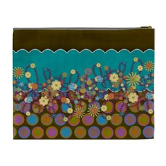 Flower By Wonder Smith   Cosmetic Bag (xl)   D9g17fzypsix   Www Artscow Com Back