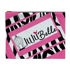 Pink Zebra By Wonder Smith   Cosmetic Bag (xl)   6uymvdqkzo8t   Www Artscow Com Front