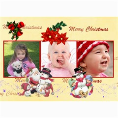 Christmas 2011 5x7 Photo Cards (x10)  By Picklestar Scraps   5  X 7  Photo Cards   2flb0lgbzih3   Www Artscow Com 7 x5 Photo Card - 10
