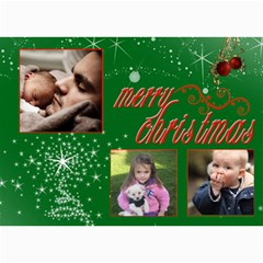 Christmas 2011 5x7 Photo Cards (x10)  By Picklestar Scraps   5  X 7  Photo Cards   Di39qdi2ypcs   Www Artscow Com 7 x5  Photo Card - 10
