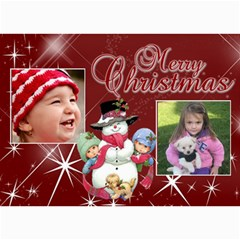 Christmas 2011 5x7 Photo Cards (x10)  By Picklestar Scraps   5  X 7  Photo Cards   Yba62mtxp5yo   Www Artscow Com 7 x5 Photo Card - 10