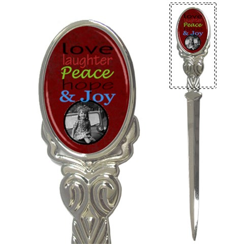 Love Laughter Letter Opener By Amanda Bunn   Letter Opener   H0l621f7ux79   Www Artscow Com Front