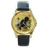 einfach-02 - Round Gold Metal Watch