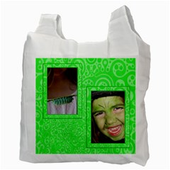 I Love Being Green By Patricia W   Recycle Bag (two Side)   Sutqsqmn4wgt   Www Artscow Com Back