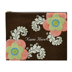 Xl Cosmetic Case: Big Flowers2 By Jennyl   Cosmetic Bag (xl)   4ov9u8juubk9   Www Artscow Com Front