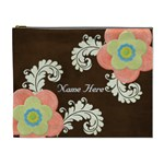 XL Cosmetic Case: Big Flowers2 - Cosmetic Bag (XL)