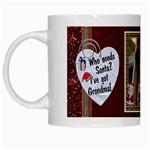 Grandmas Santa Mug - White Mug