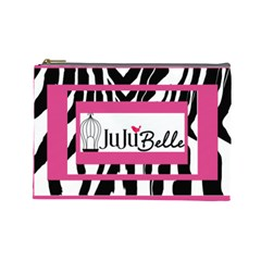 Zebra By Wonder Smith   Cosmetic Bag (large)   3c7yexxr0uo3   Www Artscow Com Front