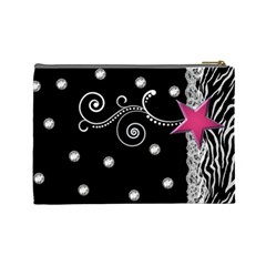 Zebra By Wonder Smith   Cosmetic Bag (large)   3c7yexxr0uo3   Www Artscow Com Back