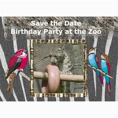 Zoo Party Invitation By Kim Blair   5  X 7  Photo Cards   4wnwahto6vxn   Www Artscow Com 7 x5 Photo Card - 2