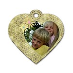 My Little Heart dog Tag (2 sided) - Dog Tag Heart (Two Sides)