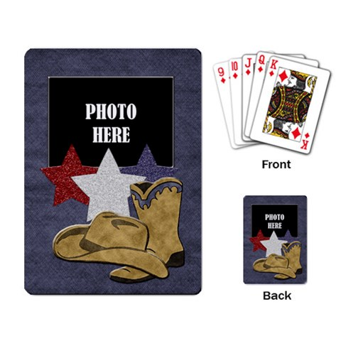 Lone Star Holidays Playing Cards 1 by Lisa Minor Back