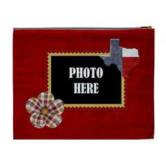 Lone Star Holiday Xl Cosmetic Bag 1 By Lisa Minor   Cosmetic Bag (xl)   Jjk60rljpmr8   Www Artscow Com Back