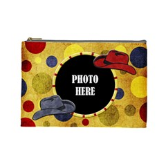 Lone Star Holiday Large Cosmetic Bag 1 By Lisa Minor   Cosmetic Bag (large)   Qrqah4ylgow4   Www Artscow Com Front