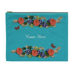 Xl Cosmetic Case: Big Flowers5 By Jennyl   Cosmetic Bag (xl)   7vk01j0t1um0   Www Artscow Com Front