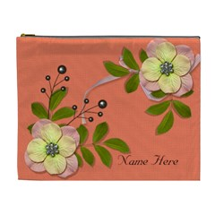 Xl Cosmetic Case: Big Flowers6 By Jennyl   Cosmetic Bag (xl)   Bbz2rcndwnb6   Www Artscow Com Front