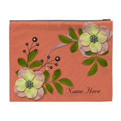 Xl Cosmetic Case: Big Flowers6 By Jennyl   Cosmetic Bag (xl)   Bbz2rcndwnb6   Www Artscow Com Back