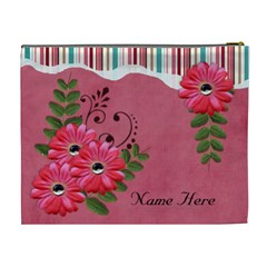 Xl Cosmetic Case: Big Flowers7 By Jennyl   Cosmetic Bag (xl)   2syqzfeq9hlu   Www Artscow Com Back