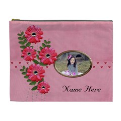 Xl Cosmetic Case: Big Flowers8 By Jennyl   Cosmetic Bag (xl)   H1pinwkeyls7   Www Artscow Com Front