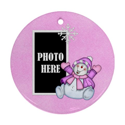 Five Little Snowman Round Ornament 1 By Lisa Minor   Ornament (round)   92gtddrmiu6z   Www Artscow Com Front
