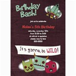 5x7 Monster Birthday Card - 5  x 7  Photo Cards