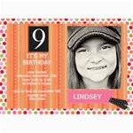 5x7 Girl Birthday Card - 5  x 7  Photo Cards