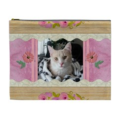 Precious Pink Xl Cosmetic Bag By Lil    Cosmetic Bag (xl)   8y2q54y5mrda   Www Artscow Com Front