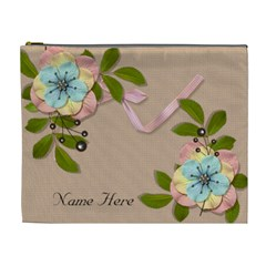 Xl Cosmetic Case: Big Flowers10 By Jennyl   Cosmetic Bag (xl)   Xprkrx77vdx0   Www Artscow Com Front
