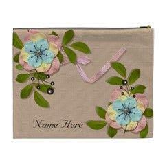 Xl Cosmetic Case: Big Flowers10 By Jennyl   Cosmetic Bag (xl)   Xprkrx77vdx0   Www Artscow Com Back