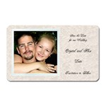 save the date magnet - Magnet (Rectangular)