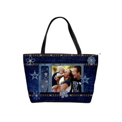 Dark Denim Classic Shoulder Handbag By Lil    Classic Shoulder Handbag   Hsg6i0x9n2um   Www Artscow Com Front