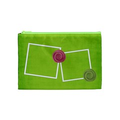 Green Cosmetic Bag (m) By Elena Petrova   Cosmetic Bag (medium)   Reztla1qxzs1   Www Artscow Com Front