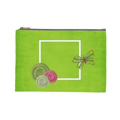 Green Cosmetic Bag (l) By Elena Petrova   Cosmetic Bag (large)   Vf9rqbmy4ypb   Www Artscow Com Front