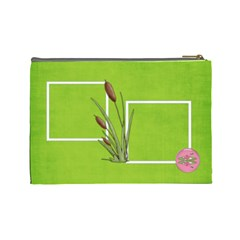 Green Cosmetic Bag (l) By Elena Petrova   Cosmetic Bag (large)   Vf9rqbmy4ypb   Www Artscow Com Back