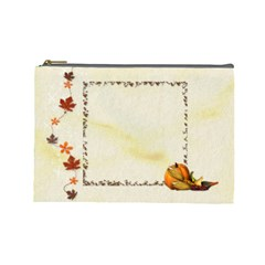 Autumn Cosmetic Bag (l) By Elena Petrova   Cosmetic Bag (large)   Tpyquucuqnxp   Www Artscow Com Front