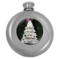 Jesus is the Reason Hip Flask (Round)